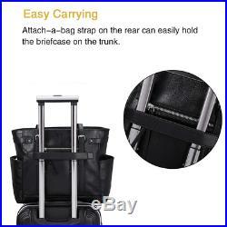 Laptop Totes for Women Genuine Leather Briefcase Large Ladies Shoulder Bag Work