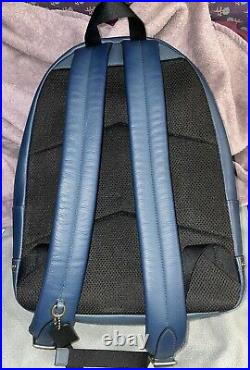 Large Blue Coach Backpack With Laptop Sleeve NWOT Includes Dust Bag