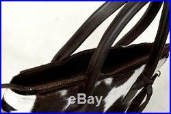Large Cowhide Tote Bag Handbag Purse Shoulder Laptop Bag Pocketbook Woman SA-6
