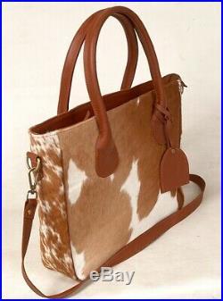 Large Cowhide Tote Bag Handbag Purse Shoulder Laptop Bag Pocketbook Woman SA-8