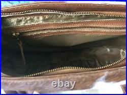 Large Cowhide Tote Purse Handbag Leather Shoulder Laptop Bag Womens Brown