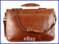 Lawyer Laptop Attache Case Mens Messenger Bag Leather Womens Briefcase / Wallet