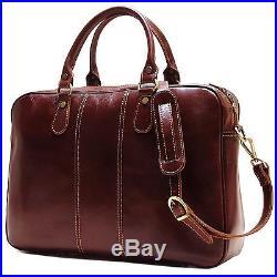 Lawyer Leather Laptop Briefcase Messenger Bag Wallet Attache Case Mens Womens