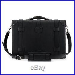 Lawyer Womens Mens Messenger Bag Leather Briefcase Laptop Case Attache Catalog