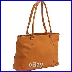 Le Donne Vaquetta Leather Women's Laptop Tote Bag Briefcase Ld4026 Tan