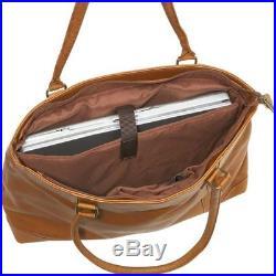 Le Donne Womens Leather Laptop Tote Bag, Computer Business Handbag