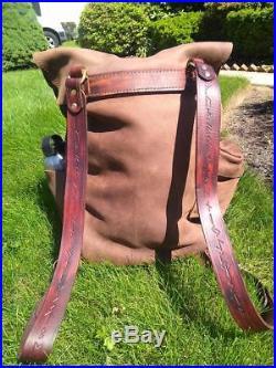 Leather Backpack EDC Laptop Sleeve Men's Women's students travel bag