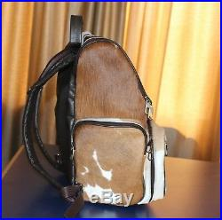Leather Backpack Men's Bagpack Cowhide Women's Leather Camera Case Laptop Bag