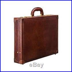 Leather Briefcase Laptop Case Attache Lawyer Womens Mens Messenger Bag Wallet