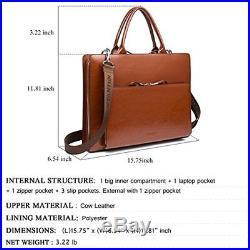 Leather Briefcase Shoulder Laptop Business Vintage Slim Bags For Men & Women