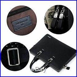 Leather Briefcase Slim Shoulder Cross-body Laptop Business Bag For Women &