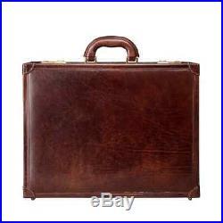 Leather Laptop Case Lawyer Womens Mens Messenger Bag Briefcase Attache Wallet