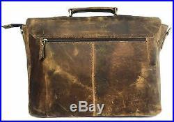 Leather Laptop Messenger Bag Vintage Briefcase Satchel for Men Women ladies girl