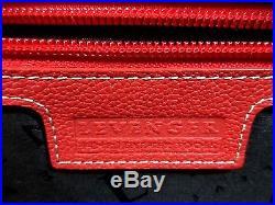 Levenger Majorca Women's Expandable Laptop Messenger Bag Leather Red Zip Around