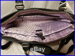 Lo & Sons Women's The Brookline 15 Laptop Travel Bag KB8 Black/Gold/Lavender