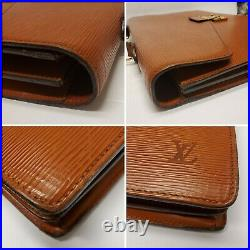 Louis Vuitton Briefcase Laptop Business Bag Ambassador BROWN Epi Leather EXC