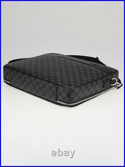 Louis Vuitton Luxury Steeve Daimer Graphite Canvas Laptop, Business Bag, Travel