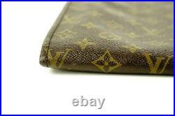 Louis Vuitton Monogram Poche Documents Folder Pochette clutch Bag 580lvs312