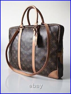 Louis Vuitton Monogram Porte Documents Voyage Laptop Bag / Travel / Briefcase