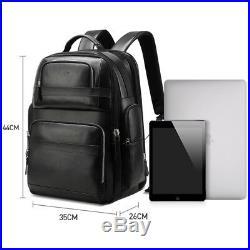 Luxury Genuine Leather Backpack Men Women Travel Backpack Business Laptop Bag