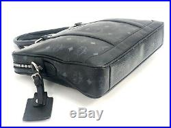 MCM Business Bag Visetos Schwarz Black Logo Print Messenger Laptoptasche Tasche