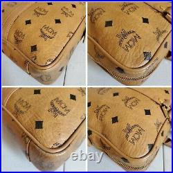 MCM Cognac Visetos Laptop/Briefcase Bag