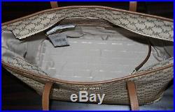 MICHAEL KORS Signature Multifunction Travel Tote Laptop Baby Diaper Bag Purse