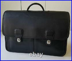 MINT Coach Vintage Retro Blk LG Duffle Laptop Organizer Bag Travel Briefcase WOW