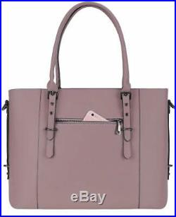 MOSISO PU Leather Laptop Tote Bag for Women (Up to 15.6 inch), Purple