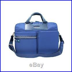 Man Woman Briefcase PIQUADRO CELION blue laptop coach bag new CA3355CE/BLU