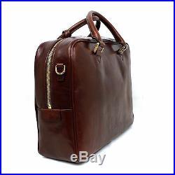 Man Woman Briefcase THE BRIDGE brown leather laptop coach bag new 064105/01 EUPG