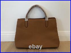 Mark and Graham Caroline Handbag Leather Bag Laptop Purse Camel Never Monogram