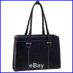 McKlein Alexis Checkpoint Friendly 15.4 Womens Laptop Bag Black