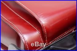 McKlein Womens EDGEBROOK Wheeled RED Laptop Case computer bag rolling carry on