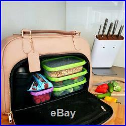 Mealami Cinnamon Meal Prep Handbag Management Laptop Bag Travel Gym