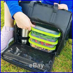 Mealami Tote Meal Prep Bag Vegan Leather Gym Management Laptop Handbag