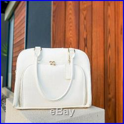 Mealami White Mini Meal Prep Handbag Management Laptop Bag Travel Gym
