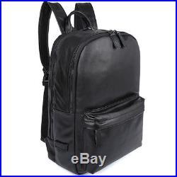 Men Women Real Leather Backpack Travel Hiking 15.6 Laptop School Bag Daypack