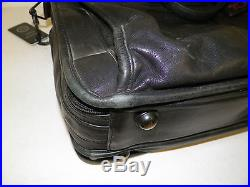 Men's Woman's Tumi Black Leather Laptop Business Briefcase Bag Good Used