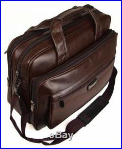 Mens Womens Ladies Business Briefcase Laptop Work Carry Case Holdall Bag Brown