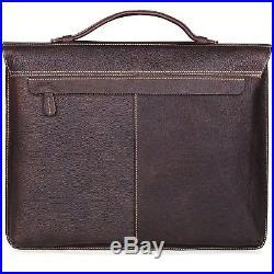 Mens Womens Lawyer Laptop Bag Messenger Leather Briefcase Attache Case / Wallet