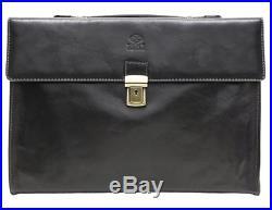 Mens Womens Lawyer Leather Laptop Briefcase Messenger Bag Wallet Attache Case
