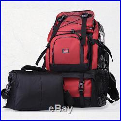 Mens Womens Rainproof DSLR SLR Camera Backpack 17 Laptop Shoulder Bag Rucksack