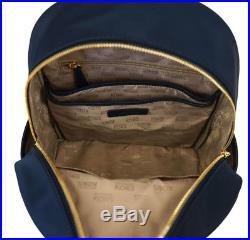 Michael Kors Abbey Nylon Large Backpack Laptop Bookpack Bag 35T7GAYB3C Navy NWT