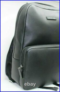 Michael Kors Bryant Men Women's Black Leather Laptop Backpack Large $398