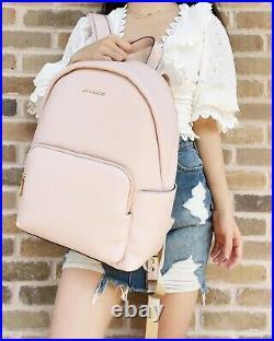 Michael Kors Erin Large Backpack Powder Blush Pink Pebbled Leather Laptop Bag