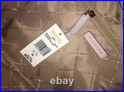 Michael Kors Gilly Large Drawstring Zip Tote Bag Laptop Mk Signature Pink Ballet