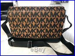 Michael Kors Harrison Jet Set Signature Laptop Messenger Bag Black Luggage $448