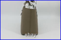 Michael Kors Jet Set Travel Medium Laptop Work Tote Bag Purse Dark Taupe Gold