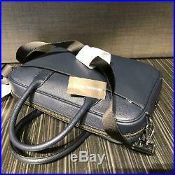 Michael Kors Leather Briefcase For Men Crossbody Shoulder Strap Messenger Laptop